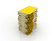 Files. A heap of files standing one on another Royalty Free Stock Images