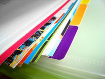 Files. Documents, files - various colors files Royalty Free Stock Photos