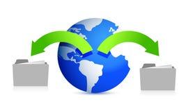Files around the globe Stock Photo