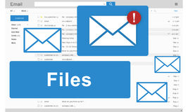 Files Attachment Email Online Graphics Concept.  royalty free stock images