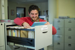 Files clerk at office Royalty Free Stock Image
