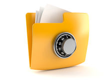 Files with combination lock Royalty Free Stock Images