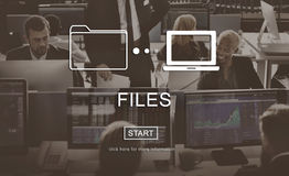 Files Data Information Message Network Share Concept Royalty Free Stock Photos