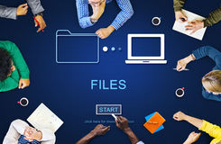 Files Data Information Message Network Share Concept. Business Files Data Sharing Concept Stock Photo