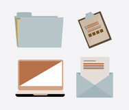 Files design. Over white background, vector illustration Royalty Free Stock Photography