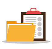 Files and documents. Graphic design,  illustration eps10 Royalty Free Stock Image