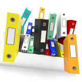 Files Falling Shows Disorganized Office Royalty Free Stock Image