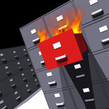 Files on fire (3D). Photo of Files on fire (3D Stock Photos