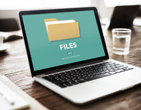 Files Folder Data Document Storage Concept. Technology File Folder Document Concept Stock Images