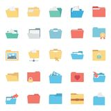 Files and Folder Isolated vector Icons Set Every Folder or files Icons Can be easily Color modified or edited in any style or Col. Or royalty free illustration