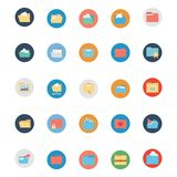Files and Folder Isolated vector Icons Set Every Folder or files Icons Can be easily Color modified or edited in any style or Col stock illustration