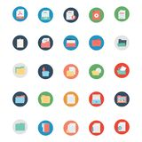 Files and Folder Isolated vector Icons Set Every Folder or files Icons Can be easily Color modified or edited in any style or Col royalty free illustration