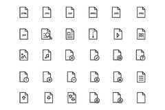 Files and folders 4. Get your work in order and organized with this File and Folders Pack! Included in this pack are  different icons, folder icons and other Royalty Free Stock Photography