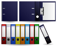Files and Folders Ring Binder. Set of multiple color of files and folders Royalty Free Stock Image