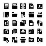 Files and Folders Vector Icons 2. File Folders Set. Filing and archiving data Stock Photos