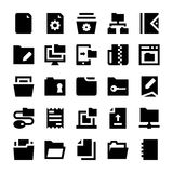 Files and Folders Vector Icons 1. File Folders Set. Filing and archiving data Royalty Free Stock Photo