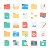Files and Folders Vector Icons 2 Stock Image