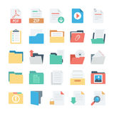 Files and Folders Vector Icons 3 Stock Images