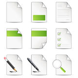 Files icon. Nine grren files icon (vector Royalty Free Stock Photo