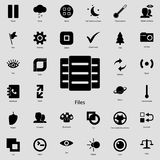 Files icon.  Detailed set of minimalistic icons. Premium graphic design. One of the collection icons for websites, web design, mob. Ile app on white background Royalty Free Stock Photography