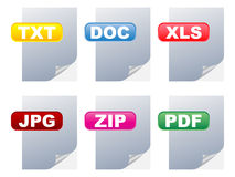 Files illustration. Different files of documents illustration Royalty Free Illustration