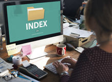 Files Index Content Details Document Archives Concept Royalty Free Stock Photography