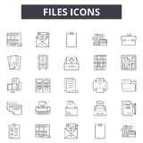 Files line icons for web and mobile design. Editable stroke signs. Files  outline concept illustrations. Files line icons for web and mobile. Editable stroke royalty free illustration
