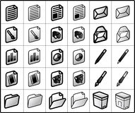 files and mail Icons Royalty Free Stock Images