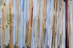 Files. Many files full of paperwork stock image