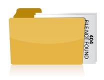 Files not found error. Illustration design over white Stock Photos
