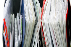 Files in the office folders Royalty Free Stock Image