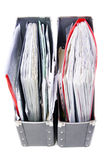 Files in the office folders. Colored Files in the office folders Stock Image