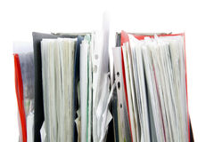 Files in the office folders Stock Images