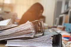 Free Files On The Desk In The Office. Royalty Free Stock Photos - 117228828