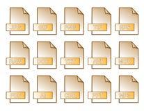 Files orange. Computer files orange in vector mode Royalty Free Stock Photos