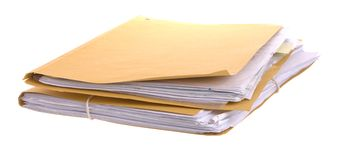 Files and papers Royalty Free Stock Image
