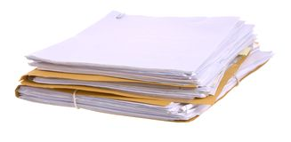 Files and papers Royalty Free Stock Images