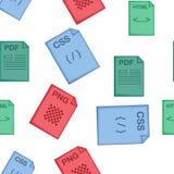 Files pattern, cartoon style. Files pattern. Cartoon illustration of files vector pattern for web Stock Photos