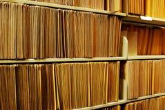 Files on Shelf Stock Photo