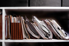 Files on Shelf Stock Images