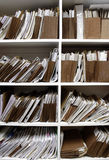 Files on Shelf Stock Photography