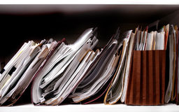 Files on Shelf Royalty Free Stock Photos