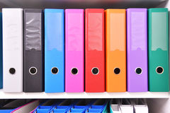 Files on the shelf Royalty Free Stock Photo