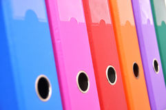 Files on the shelf. Colorful files on the shelf Royalty Free Stock Photos