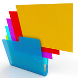 Files Shows Organizing And Paperwork Royalty Free Stock Image