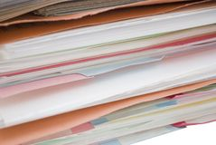 Files on the Side Royalty Free Stock Image