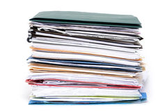 Files Stacked Stock Photography