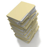 Files stacked ready for archiving vector illustration