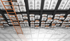 Files in the Storage. 3D Render Royalty Free Stock Photos