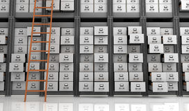 Files in the Storage. 3D Render Royalty Free Stock Image